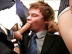gay porn office : twink ass cum