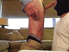gay swallow cum : gay twink blowjob